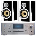 ROTEL RCX 1500 Silver +B&W CM1S2 Negro