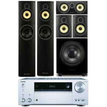 ONKYO TX-NR656-SI + Wharfedale Crystal 4 Systems+WHD8