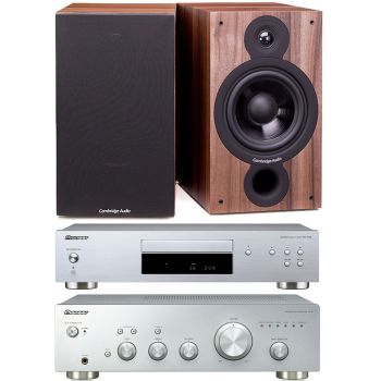 Pioneer A-10 Silver + PD-10AE Silver + Cambridge SX60 Walnut