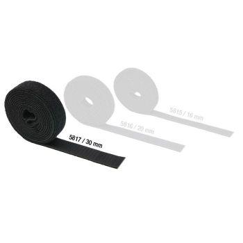 Adam Hall Hardware 5817 Cinta Velcro doble Cara 30 mm de ancho