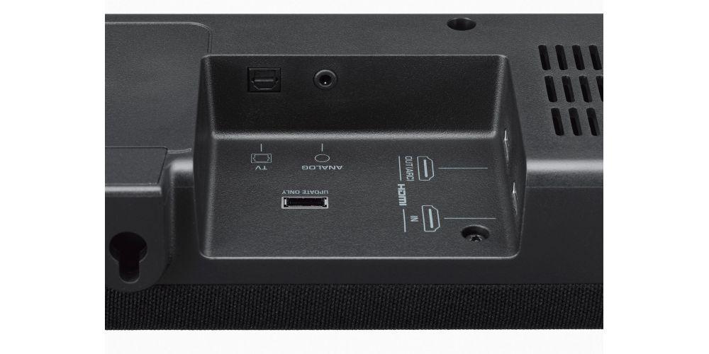 yamaha yas207 barra sonido subwoofer extraplana conexiones
