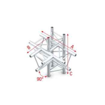 Showtec T-Cross - up-down 5-way Cruce Triangular 5 Direcciones para Truss FT30021