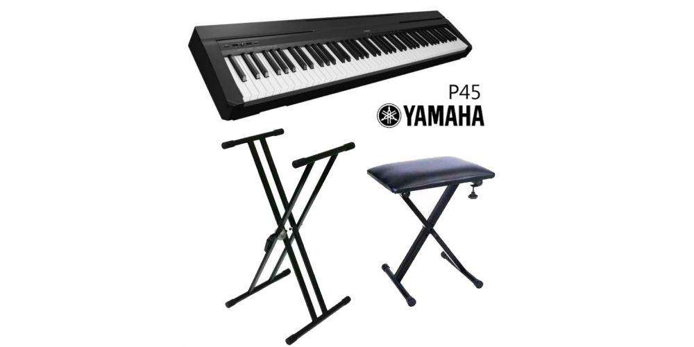 yamaha p45 con soporte y banqueta