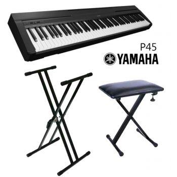 Yamaha P45 Piano Digital + Soporte + Banqueta