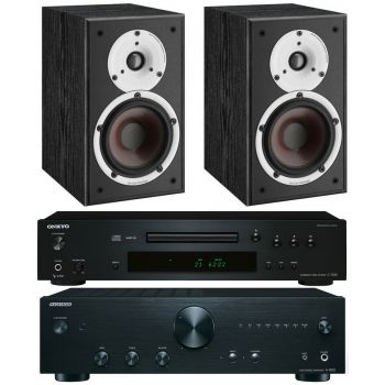 Onkyo A9010K+C7030K+Dali Spektor 1Bk, Conjunto Audio