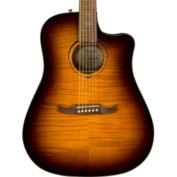 Fender FA-325CE Dreadnought LRL Mocha Burst