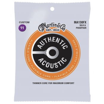 Martin MA130FX Cuerdas Guitarra Acústica Jeux Flexible Core Silk & Phosphor 11-47