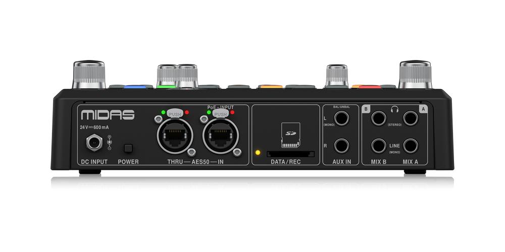 midas dp48 mezclador monitor conexiones