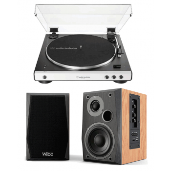Equipo HiFi  Audio Technica Giradiscos Bluetooth + Wiibo NEO 50 Altavoces Activos Bluetooth