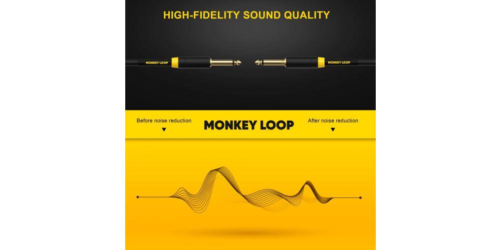 monkey loop pro stage silent cable jack mono jack mono noise reduction