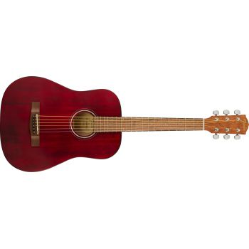 Fender Squier FA-15 3/4 WN Red. Guitarra Acústica + Funda