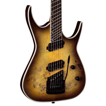 Dean Guitars Exile Select 6 Multiescala Kahler Satin Natural Black Burst. Guitarra Eléctrica