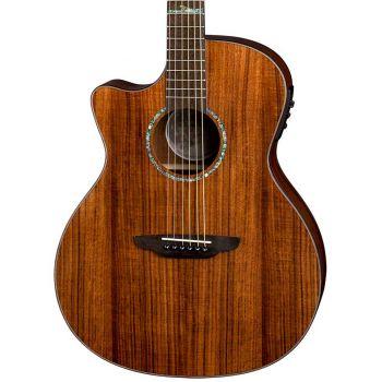 Luna Guitars High Tide Koa Grand Concert CW LH. Guitarra Electroacústica para Zurdos