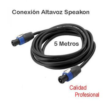 Cable Speakon a Speakon 5 metros Audibax