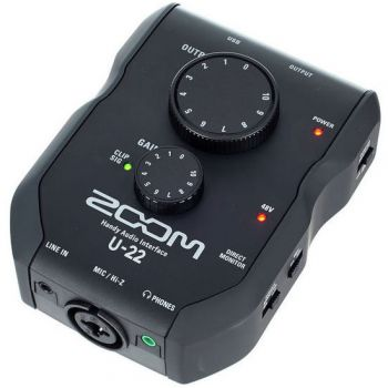 Zoom U-22 Interface de Audio con Previo de Micro