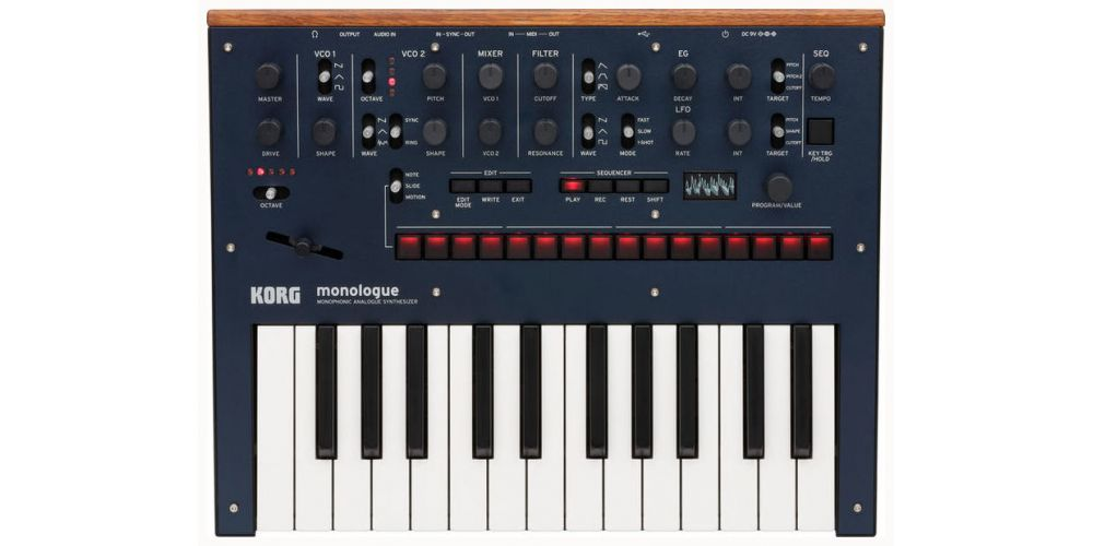 korg monologue blue front