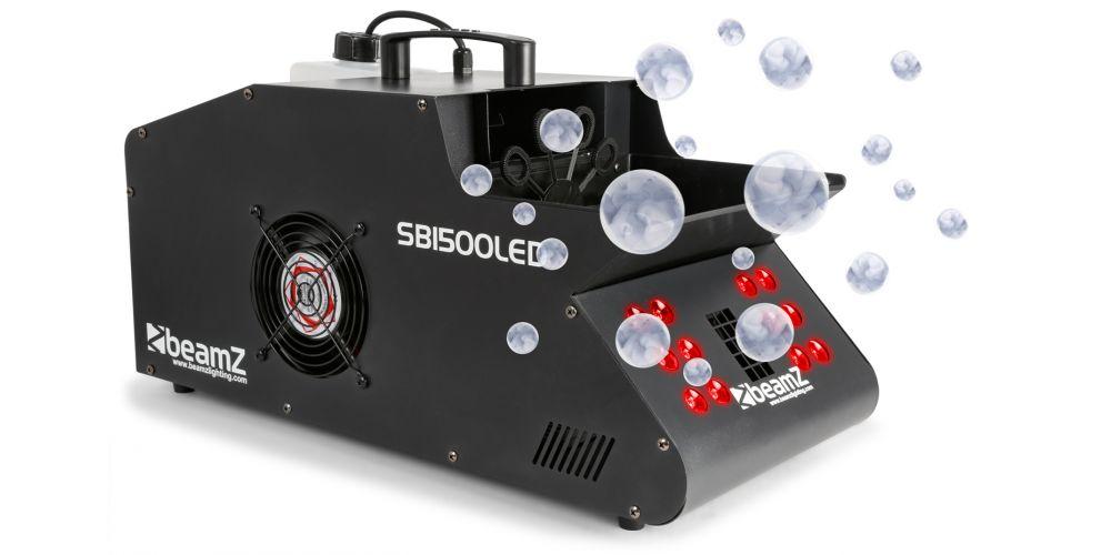 Beamz SB1500 LED Maquina Humo y Burbujas Led RGB