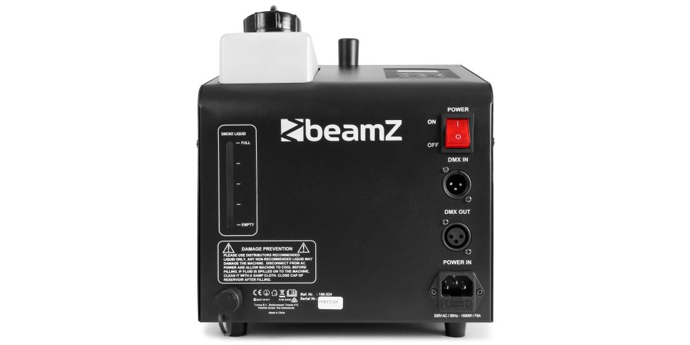 comprar Beamz SB1500 LED Maquina Humo y Burbujas Led RGB