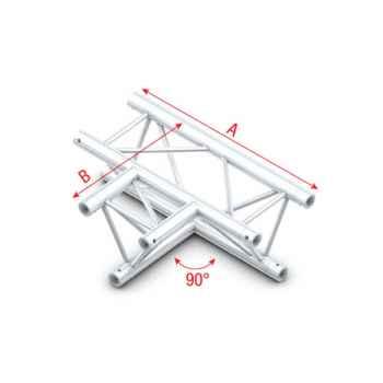 Showtec 90 3-way horizontal Cruce en T Triangular 3 Direcciones GT30017