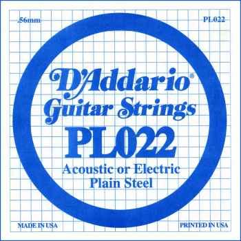 D´addario PL022 Cuerda Suelta para Guitarra Eléctrica y Acústica