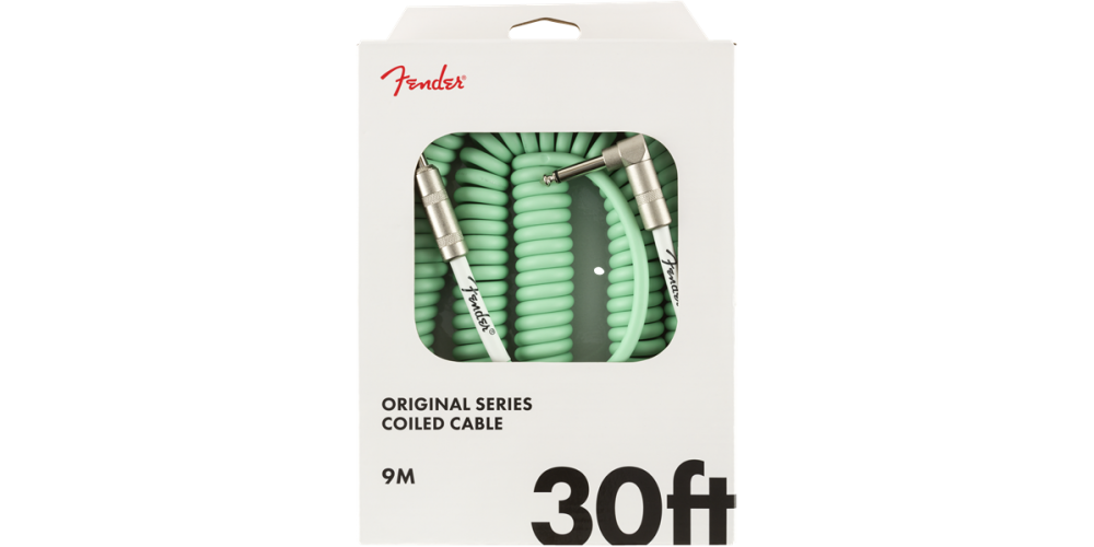 fender original coil cable 9m surf green