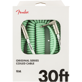 Fender Original Coil Cable 9m Surf Green Jack Mono a Jack Mono Acodado