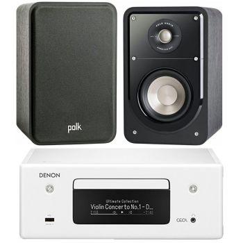 DENON RCD-N10 White + Polk Audio Signature S15