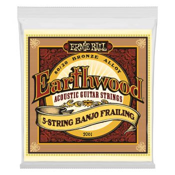 ERNIE BALL 2061 JUEGO CUERDAS BANJO EARTHWOOD FRAILING 5 STRINGS 10-24/10