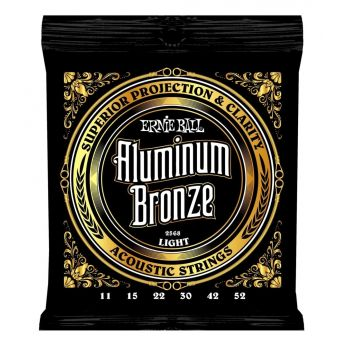 ERNIE BALL 2568 JUEGO ACÚSTICA ALUMINUM BRONZE LIGHT 11-52