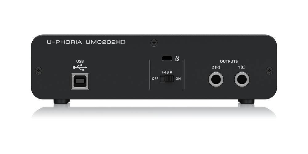UMC202HD behringer tarjeta sonido conexiones