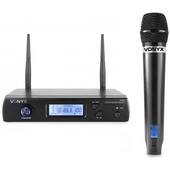 VONYX WM51 Micrófono Inalámbrico de Mano UHF 16 Canales 179260