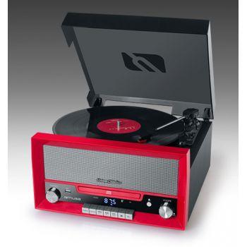 Muse MT-110RD Tocadiscos Bluetooth Encoding USB Rojo Negro