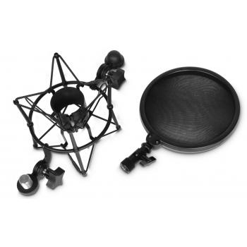 Adam Hall DSM 400 Soporte de Araña para Micrófono con Pantalla Antipop