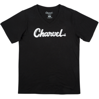 Charvel T-Shirt para Mujer Logo Black Talla M