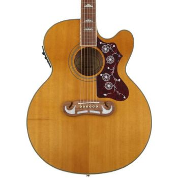 Epiphone EJ-200SCE Vintage Natural Guitarra Electroacústica