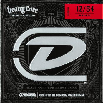 Dunlop DHCN1254 Juego Cuerdas Guitarra Electrica Nickel Heavy Core 12-54