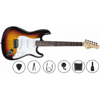 OQAN QGE-ST25 SB Pack Guitarra Eléctrica + Amplificador + Accesorios