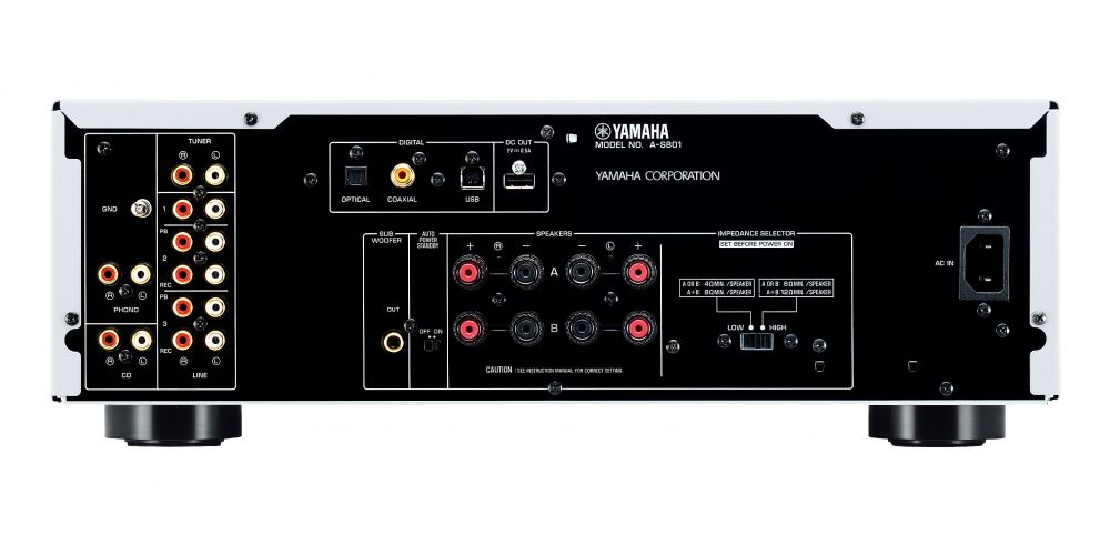 yamaha as801 conectores