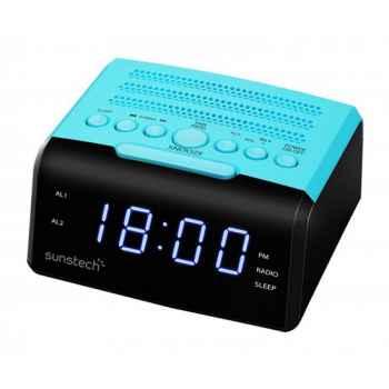 SUNSTECH FRD35U Azul Radio Reloj Despertador