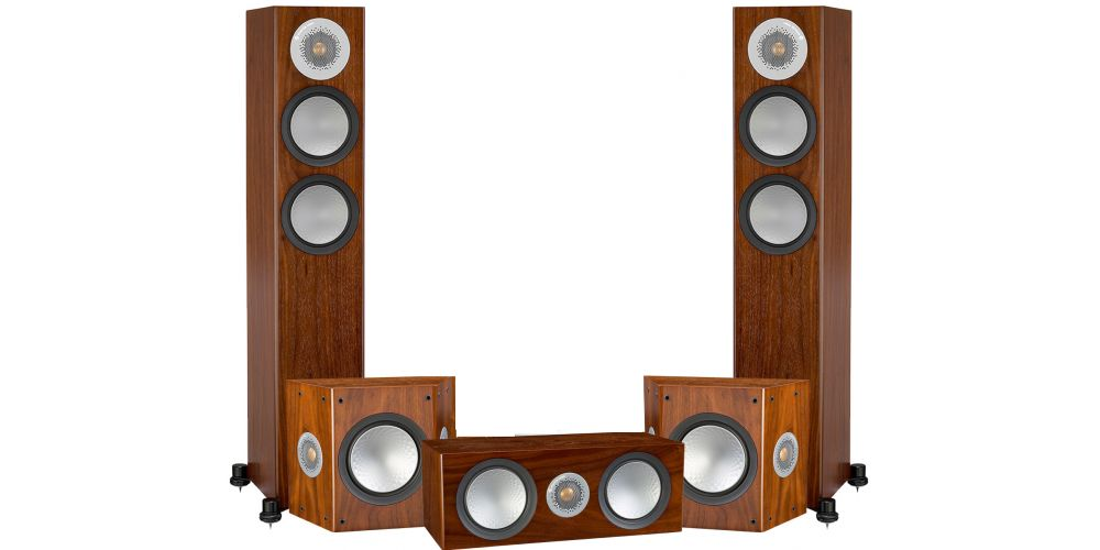 monitor audio silver 200 pack walnut