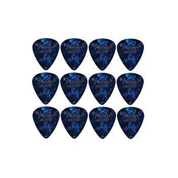 Fender 351 Shape Premium Pick Medium Blue Moto Pack 144 Unidades