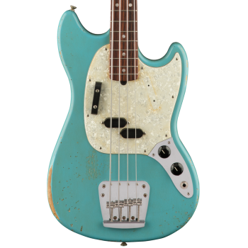 Fender JMJ Road Worn Mustang Bass RW Faded Daphne Blue  Bajo Eléctrico