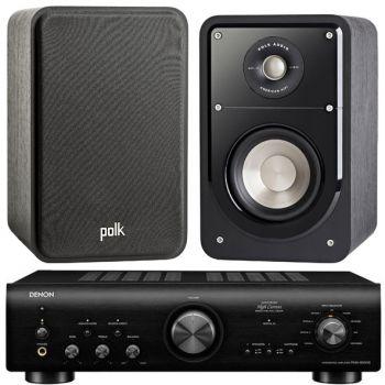 Denon PMA-800AE Black+Polk Audio S15 Sistema 800/ S15SCD Conjunto Audio