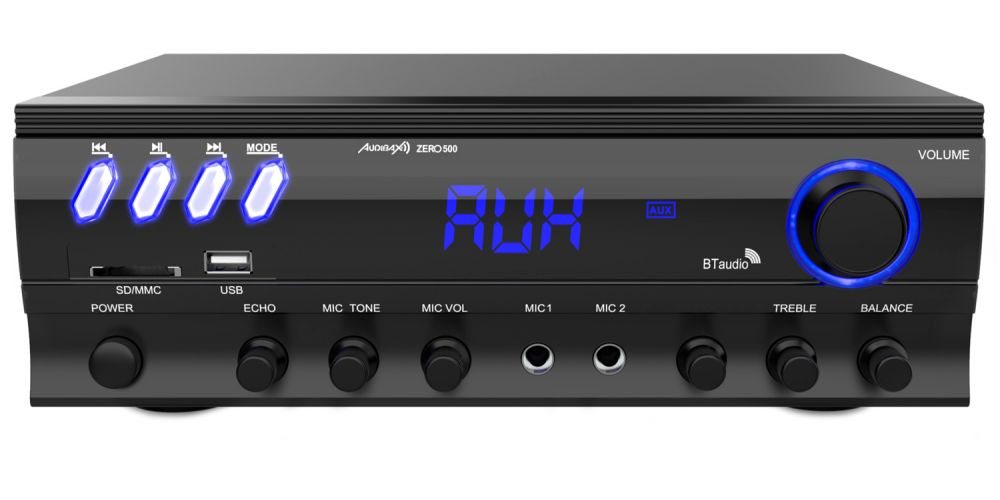 audibax zero 500 ampli karaoke bluetooth