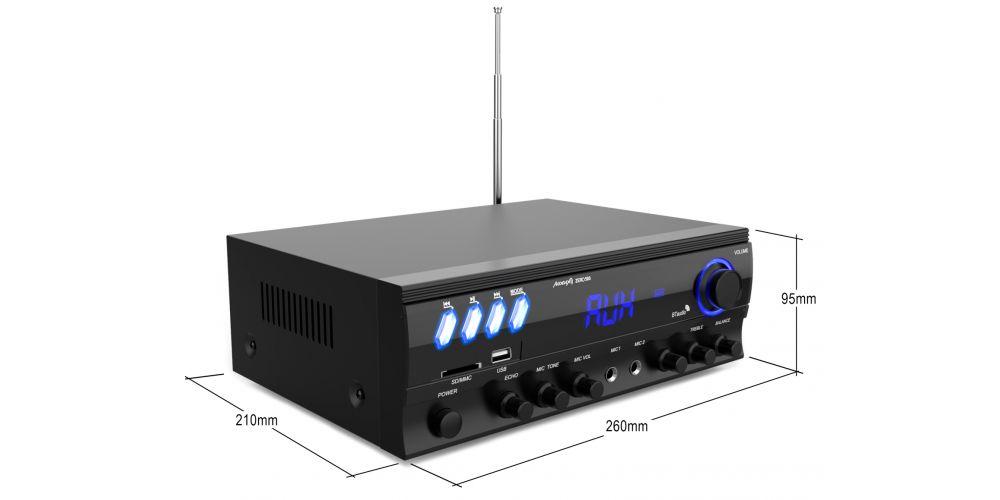 audibax zero500 amplificador hifi bluetooth medidas