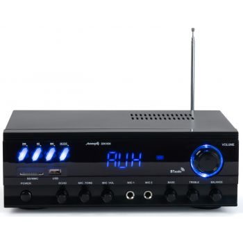 Audibax Zero 500 Amplificador HiFi Bluetooth Karaoke con entrada de 2 Micros USB y SD