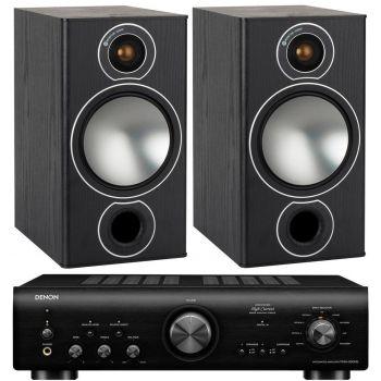 Denon PMA-800AE Black+Monitor Audio Bronze 2 Black conjunto sonido
