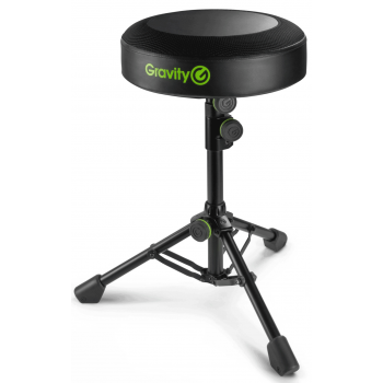 Gravity FD SEAT 1 Taburete redondo para músicos Altura plegable y ajustable
