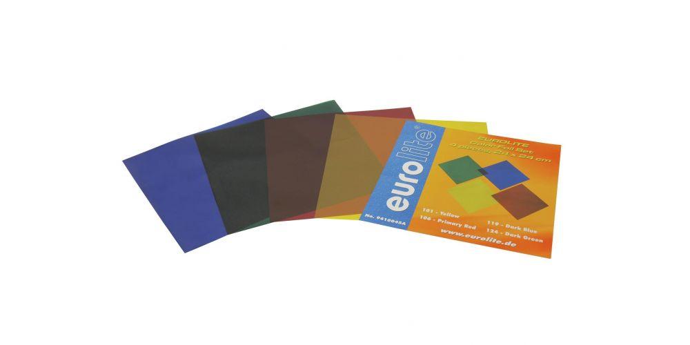 eurolite juego de laminas de colores 24x24cm 4 colores