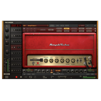 Ik Multimedia Ampli Tube 4 Programa para Estudio De Tono De Guitarra Y Bajo